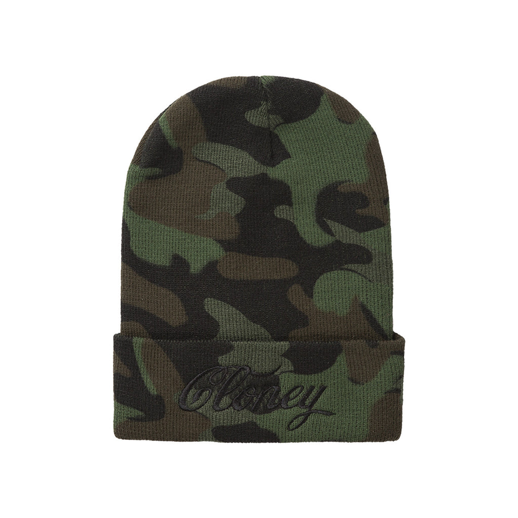Middle Finger Beanie in Camo