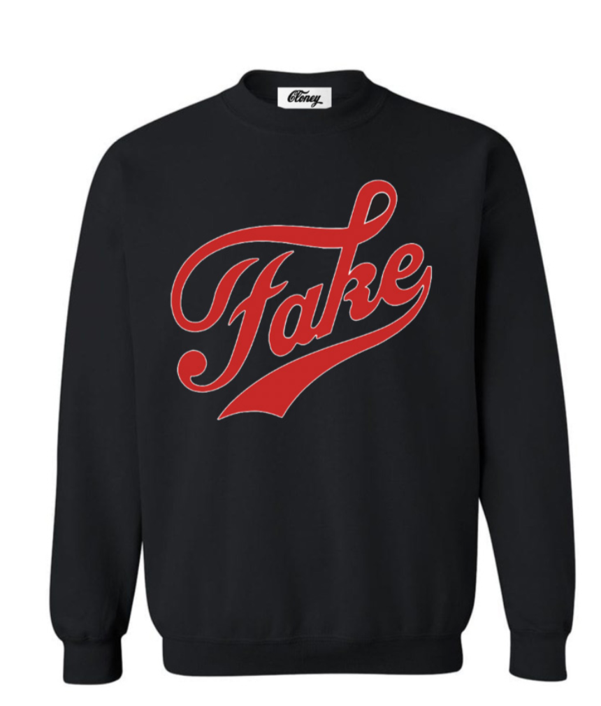 FAKE / FAME Sweatshirt in Black
