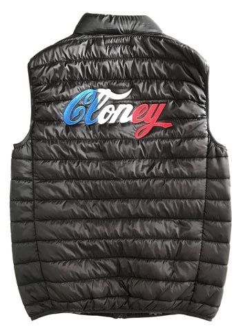 Cloney Puffer Vest in Black