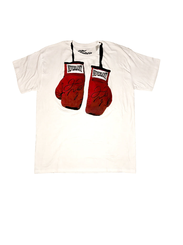 NEVERLOST Mayweather Autographed Boxing Glove T-Shirt