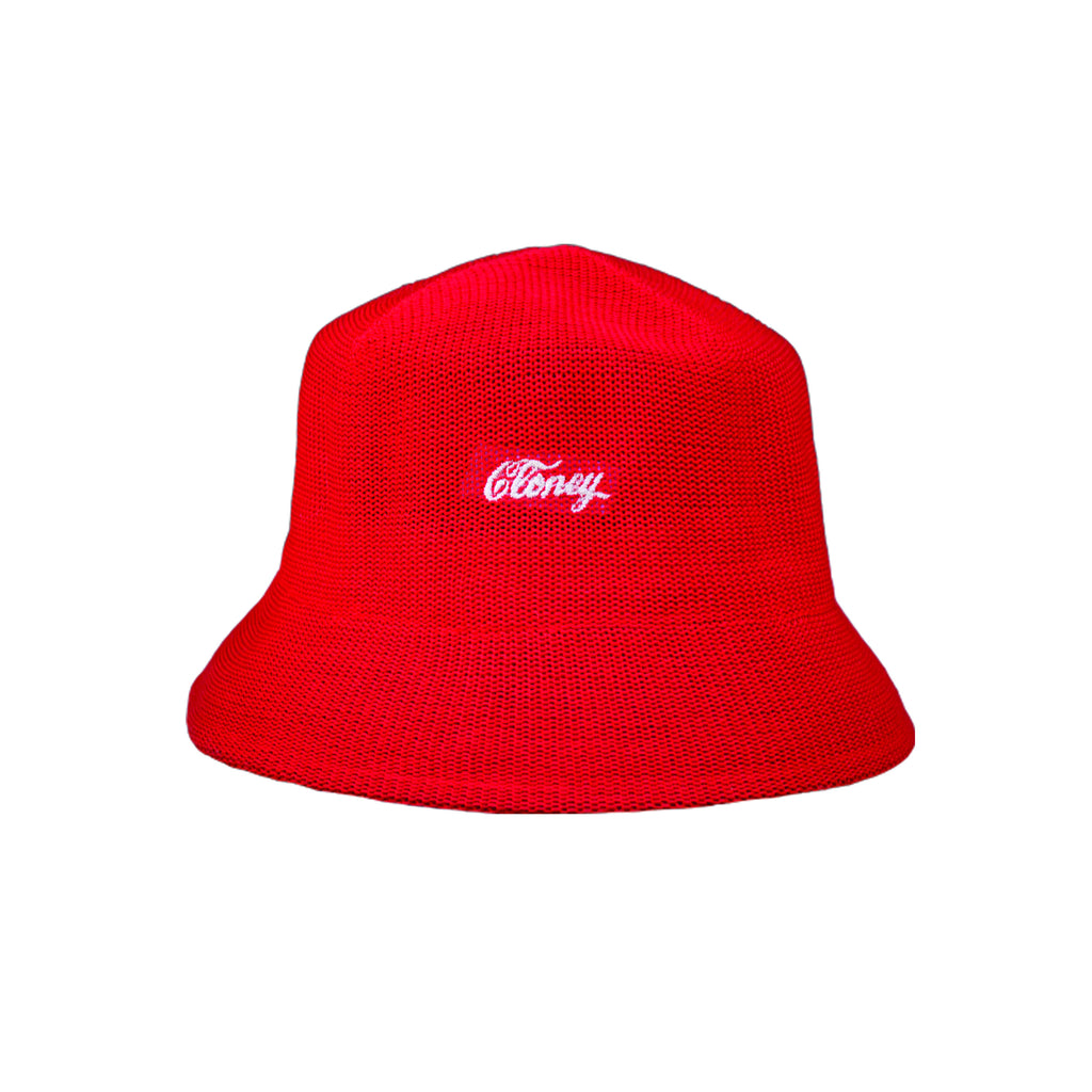 Cloney Bucket Hat in Red
