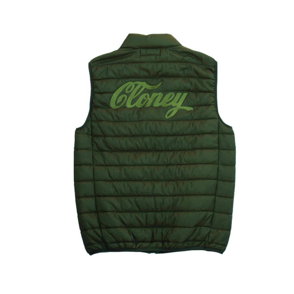Cloney Puffer Vest in Green