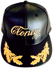 CLONEY TopGun Hat in Black Leatha'