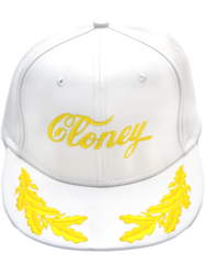 CLONEY TopGun Hat in White Leatha'