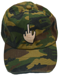 Middle Finger Hat in Camo