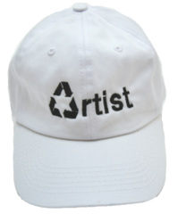 Recycled Artist Hat in White