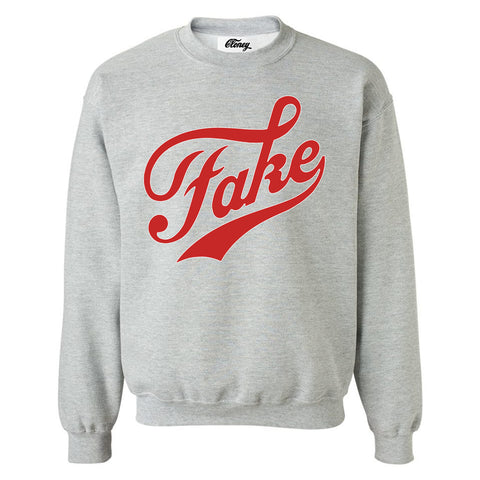 FAKE / FAME Sweatshirt in Gray