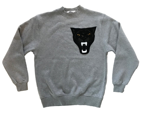Black Panther on Gray Crewneck