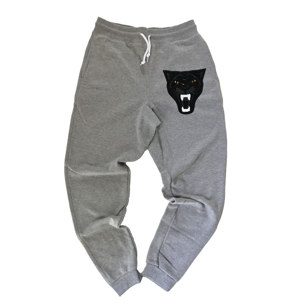 Black Panther on Gray Joggers