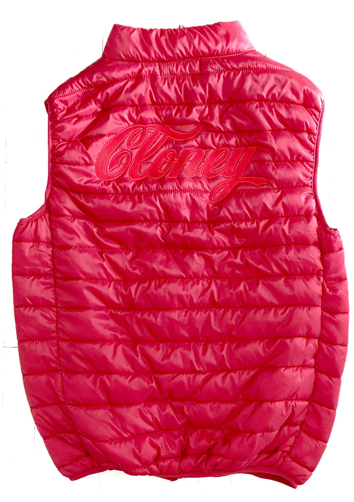 Cloney Puffer Vest in Red
