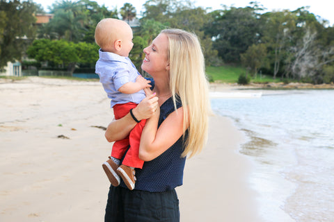 Amy Darcy and her 1-year-old son Finn