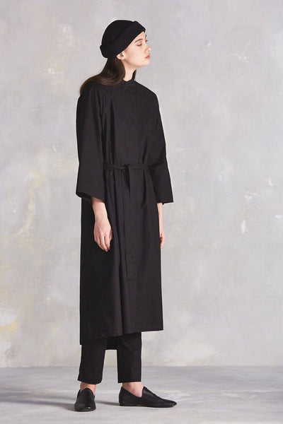 Black Auteur Coat - Kowtow | Ecoture