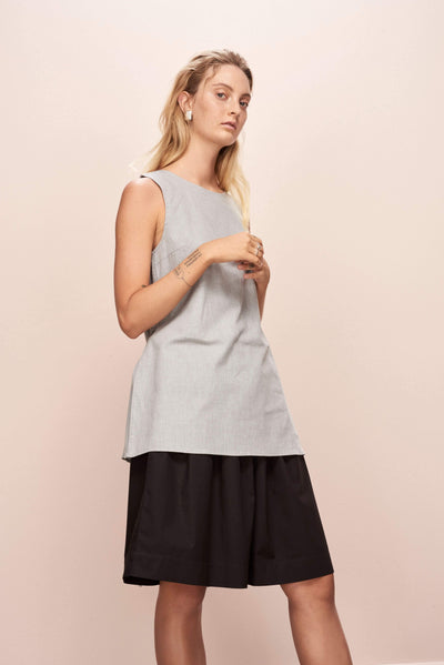 Grey Melange Come Together Top - Kowtow | Ecoture