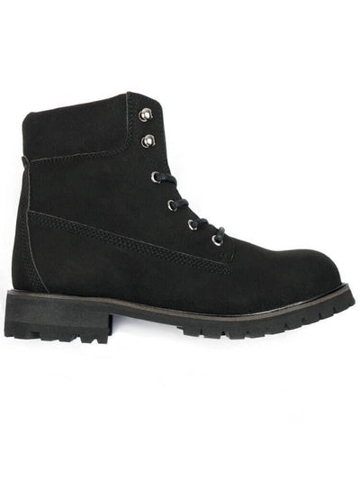 Black Faux Nubuck Men's Steel-Toe Dock Boot - Will's Vegan Shoes & Accessories Co. | Ecoture