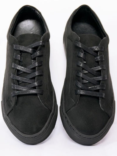 Black Faux Suede Men's Sneaker - Will's Vegan Shoes & Accessories Co. | Ecoture