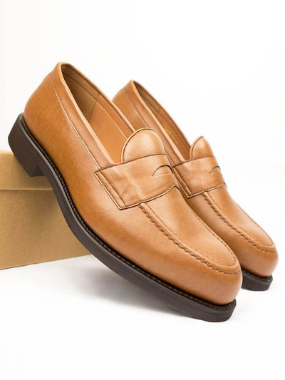 Tan 'Black Collection' Men's Loafer - Will's Vegan Shoes & Accessories Co. | Ecoture