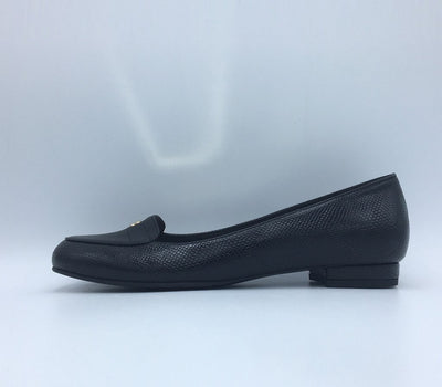 Black Faux Leather Aubrey Loafer - GUNAS NEW YORK | Ecoture