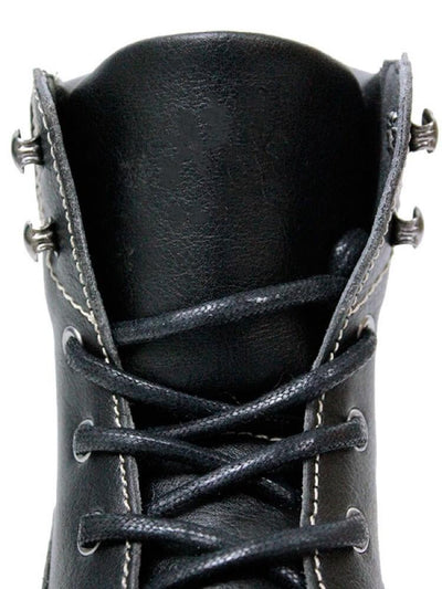 Black Faux Leather Women's Dock Boot - Will's Vegan Shoes & Accessories Co. | Ecoture