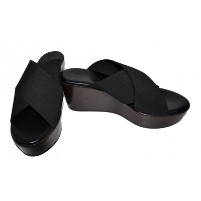 Black Melissa Wedge Sandal - NOAH | Ecoture