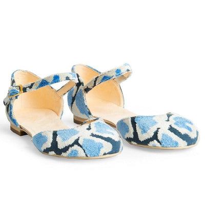Blue Loom Faux Suede Mary Jane Ballet Flat - RAFA | Ecoture