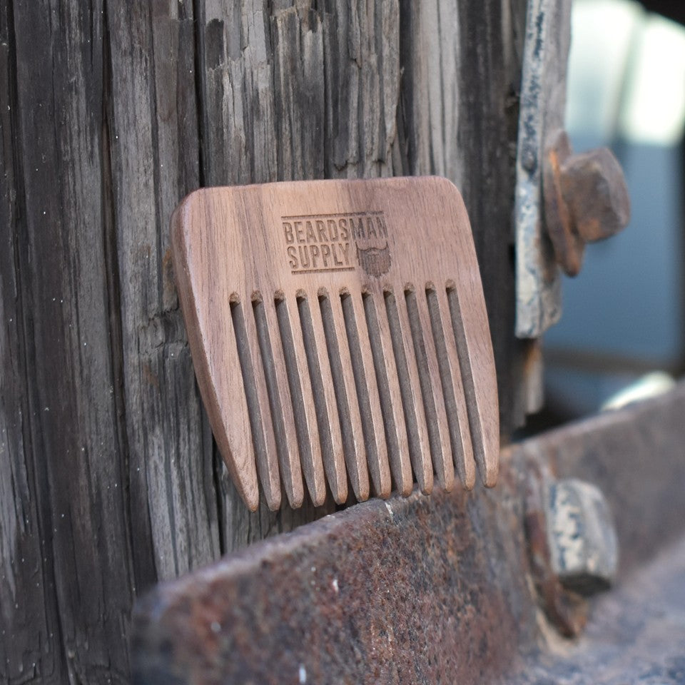 Handmade Wooden Beard Comb - Beardsman Supply, LLC