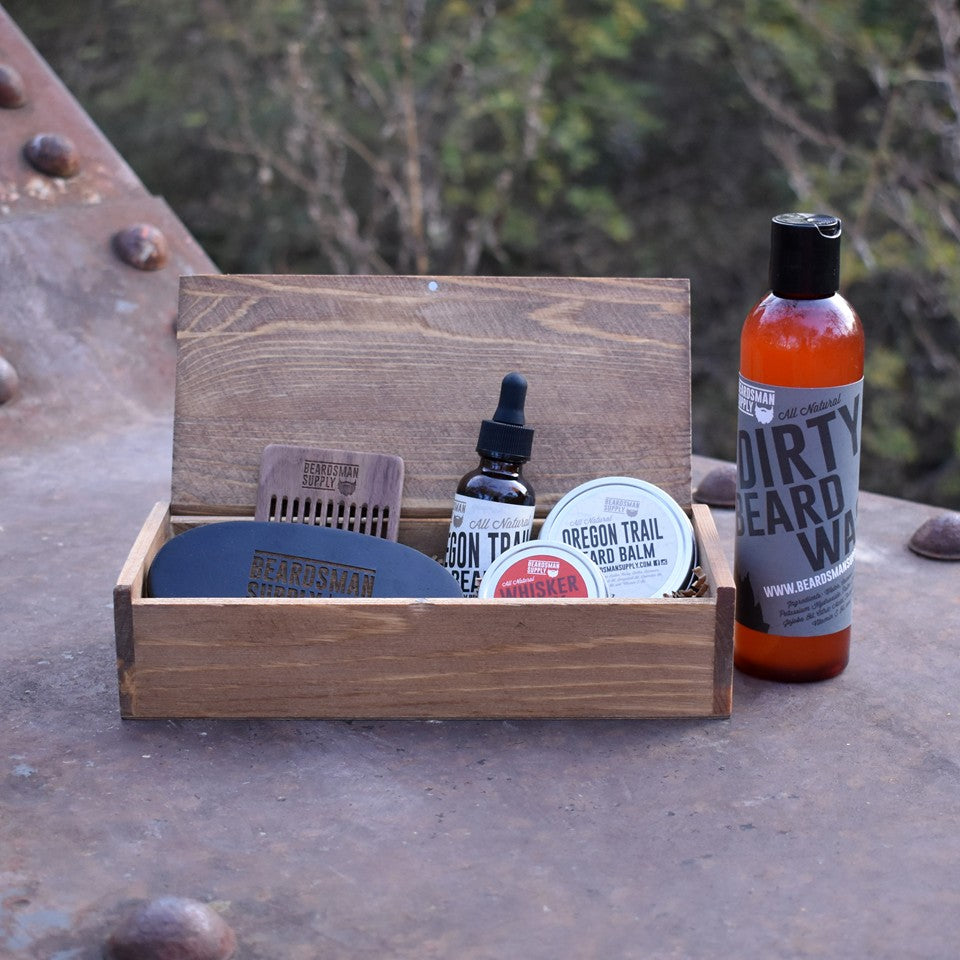 Full Beardsman Kit - Dark Brown - Beardsman Supply, LLC