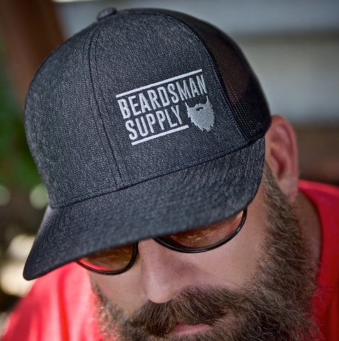 Black Curved Bill Logo Hat - Beardsman Supply, LLC
