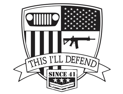 This I'll Defend - Black Large Size Decal