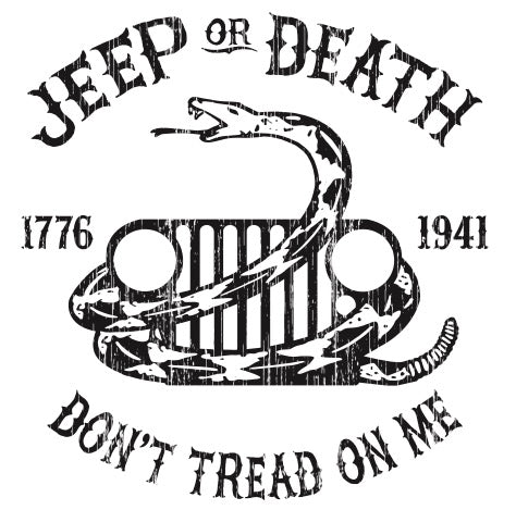Don't Tread On Me - Black Medium Size Decal