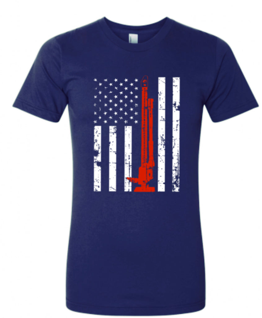 Flag Red Line T-Shirt