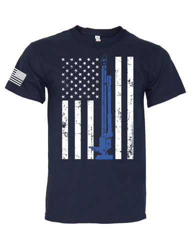 Blue Line Flag T-Shirt