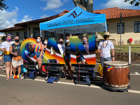 Deja Vu Surf Hawaii in collaboration with CAN Pride Parade