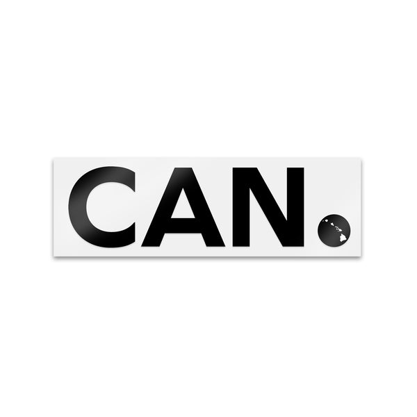 "Black CAN. Sticker 3"",5"", 7"""