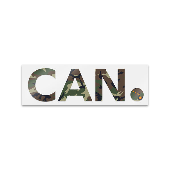 "Camo CAN. Sticker 5""& 7"""