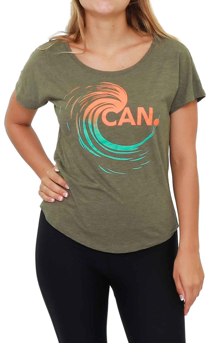 CAN. Wave Scoop Neck T-Shirt