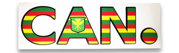 Kanaka Flag large sticker