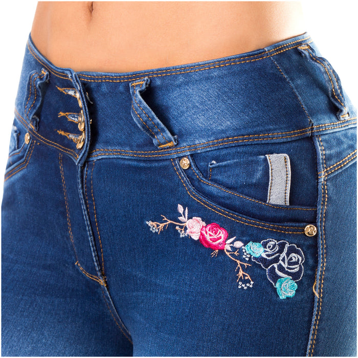 CID AS3B05 Flower Embroidered Jeans - Pal Negocio