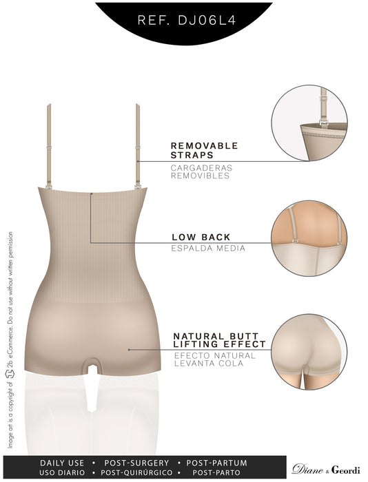 Diane & Geordi DJ06L4 Seamless Strapless Hiphugger Body Shaper - Pal Negocio
