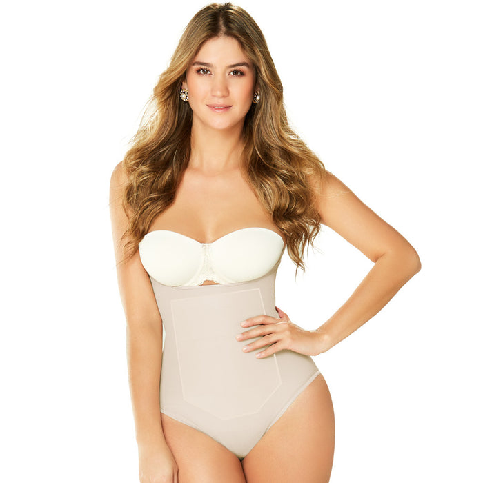 Diane & Geordi 2353 Tummy Control Shapewear Thong Bodysuit / Latex - Pal Negocio