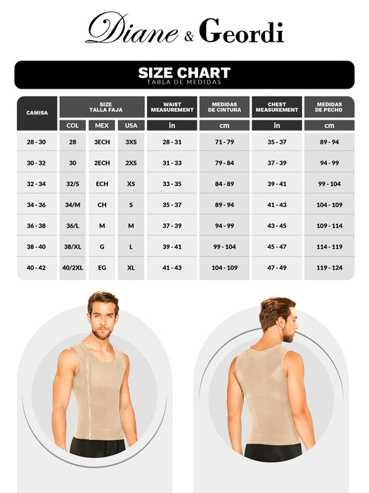 Diane & Geordi 002007 | Men's Posture Corrector Body Shaper Vest / Powernet