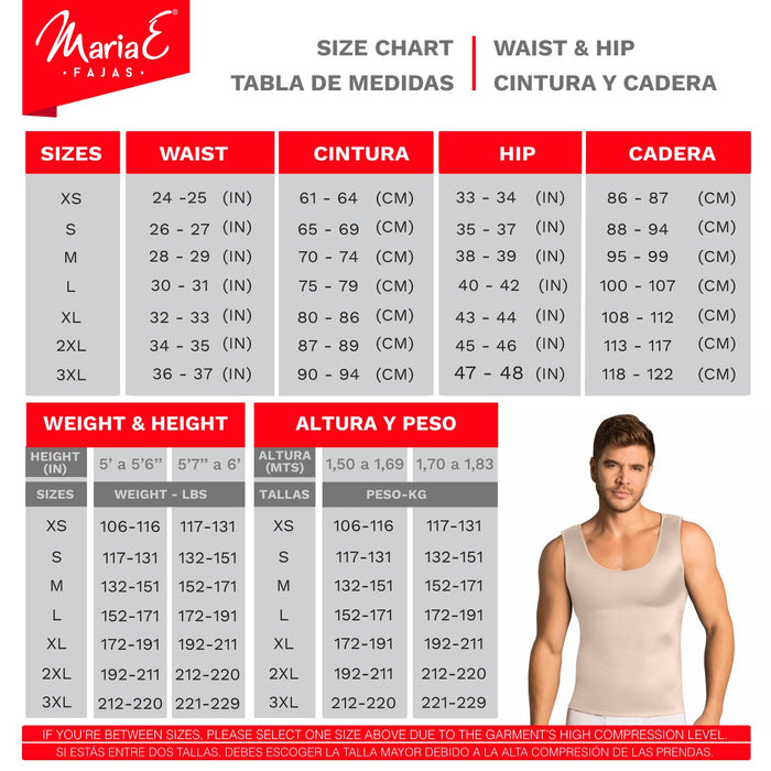 Fajas MariaE 8124 | Colombian Shapewear Vest For Men Abs Trimmer