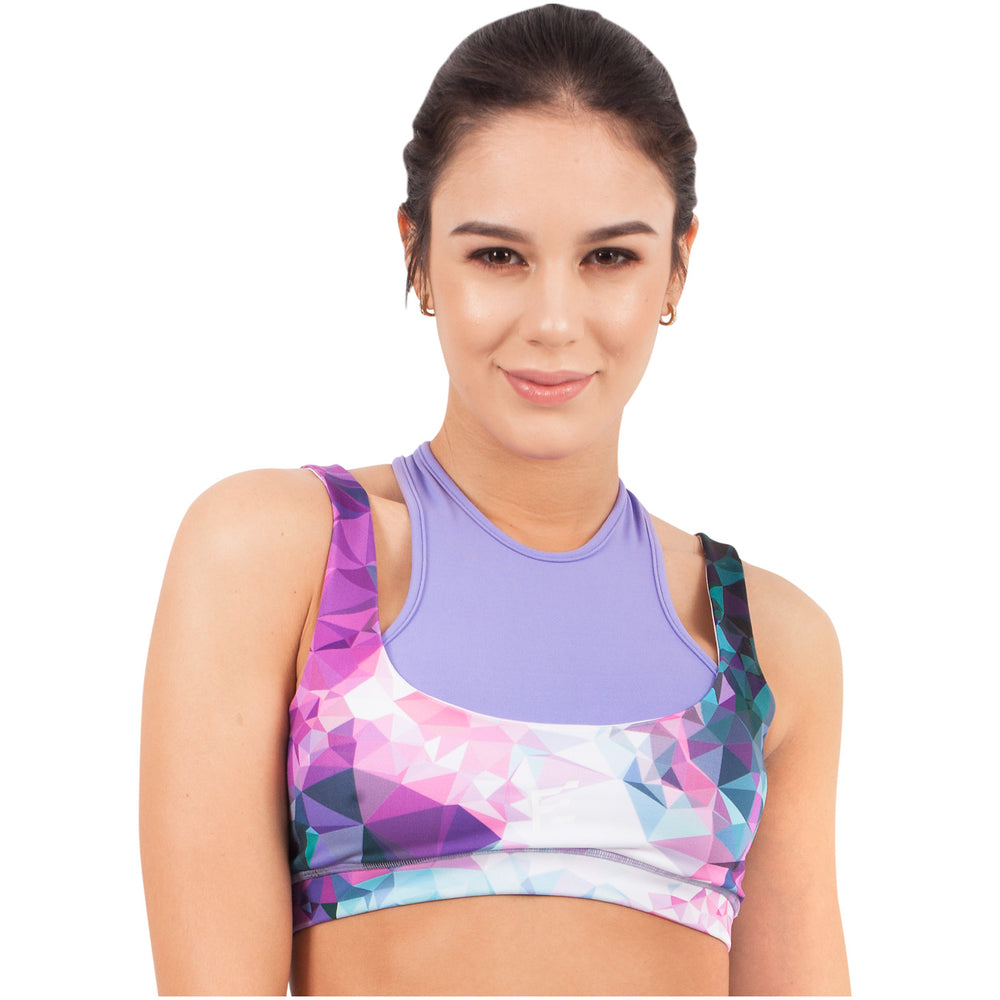 FLEXMEE 902004 Fractals Sublimated High Impact Sport Bra | Microfiber - Pal Negocio