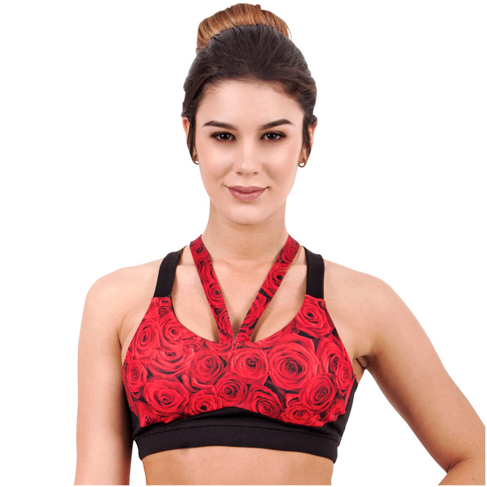 Flexmee 902005 Luxury Roses Sublimated Sport Racerback Bra | Microfiber - Pal Negocio