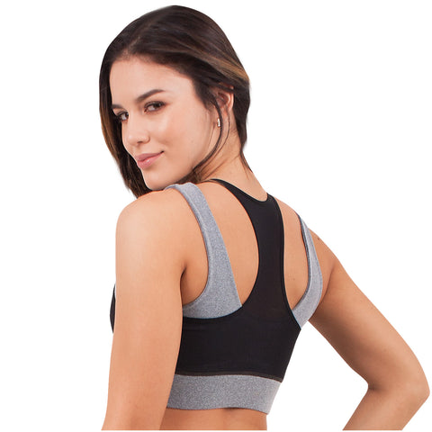 FLEXMEE 902006 Waves Sport Active Racerback Bra | Supplex 360 - Pal Negocio