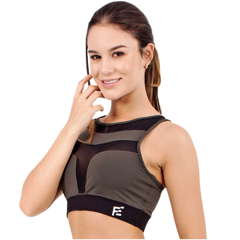 FLEXMEE 902011 Marble High Impact Racerback Sport Bra | Supplex 360 - Pal Negocio