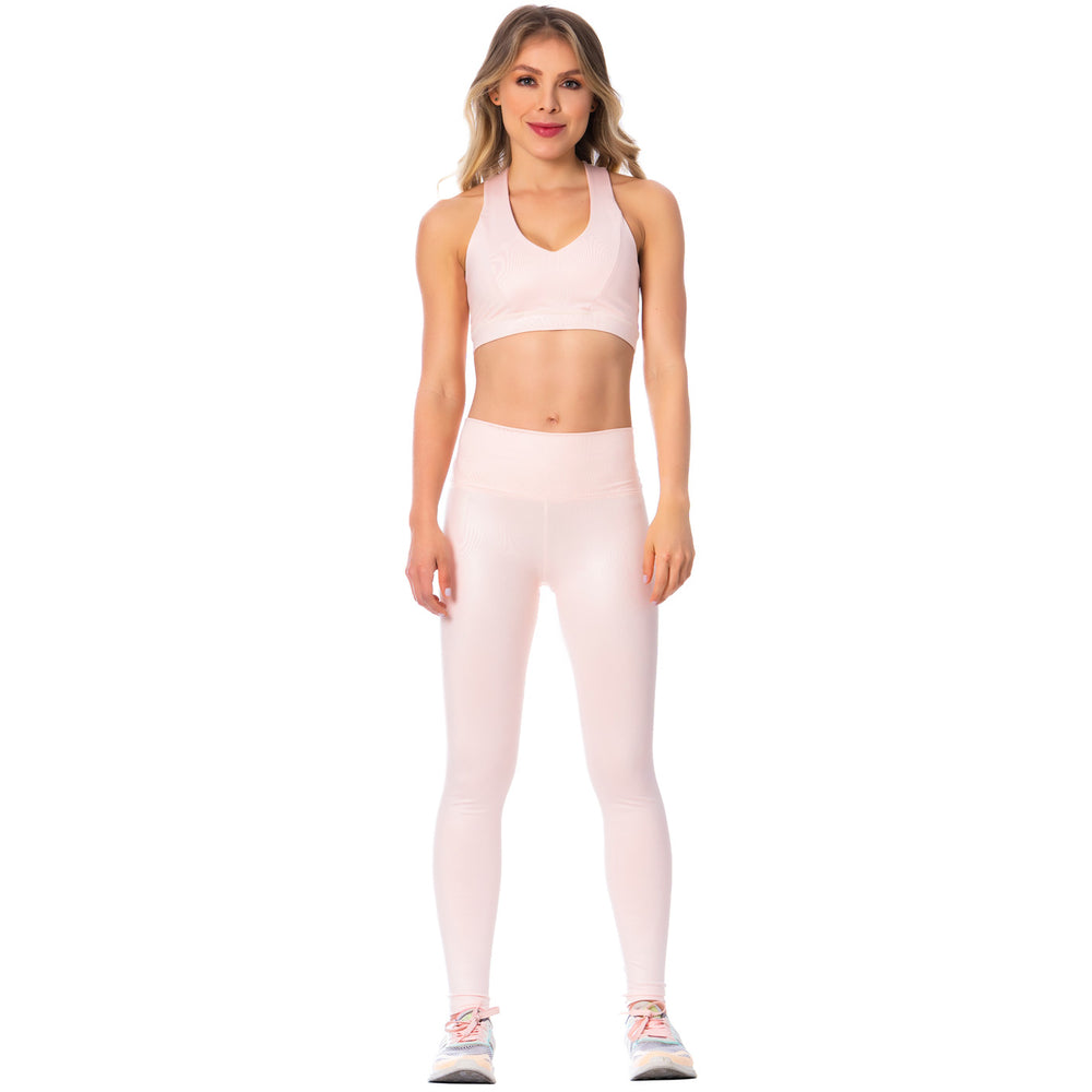 Criss-Cross Pink Sports Bra for Women