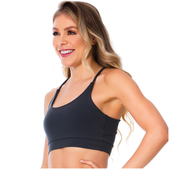 Women's Gray T-Back  Gym Bra