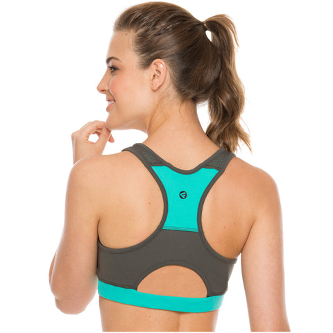 Flexmee 902101 Vitality Racerback Gym Sports Bras for Women | Supplex - Pal Negocio