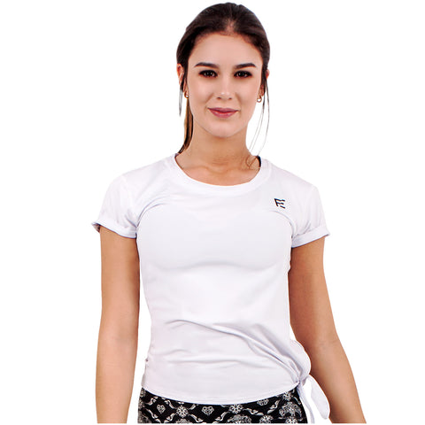 FLEXMEE 930002 Luxury Sport Active T-Shirt With Side Knot | Microfiber - Pal Negocio