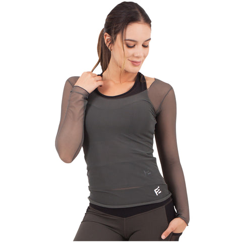 FLEXMEE 934000 Marble See-Through Shirt For Women | Lycra - Pal Negocio
